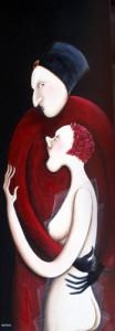GALERIE  LEVY COTIGNAC Amour-rouge-120cm-x40cm-2009-104x300